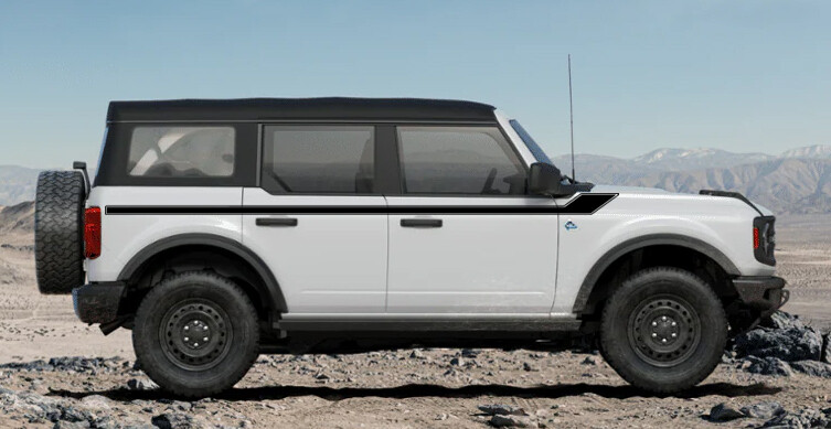 2021-up Ford Bronco Retro Special Decor Style Side Graphics Kit (Centered on Body Line)