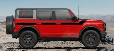 2021-up Ford Bronco Retro Special Decor Style Side Graphics Kit (Wide Below Body Line)
