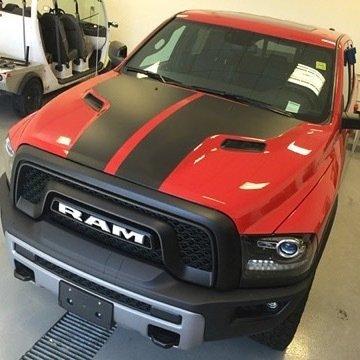 2009 - 2020 (Classic) Ram 1500 Sport Hood Rebel Hood Blackout Graphics