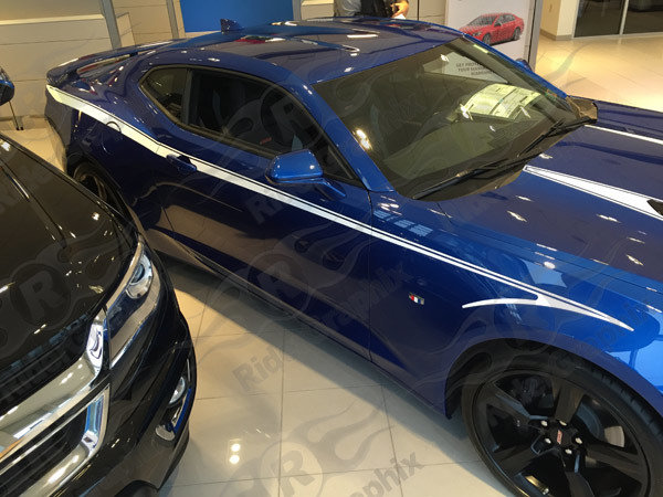 2016 - Up Camaro Devil Tail Side Stripes