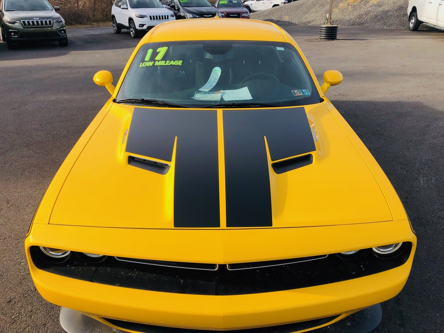 2015 - Up Dodge Challenger SXT / RT / GT AWD Split Hood Decal Kit