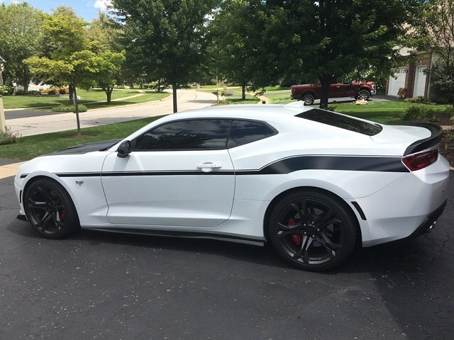 2016 - Up Camaro Modern Yenko Sport Side Stripes