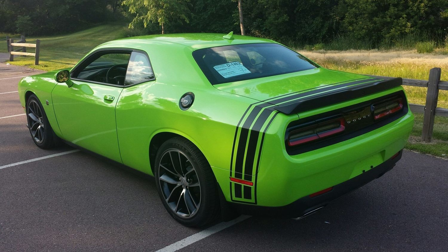 2008 - Up Dodge Challenger Bumble Bee Style Tail Stripes