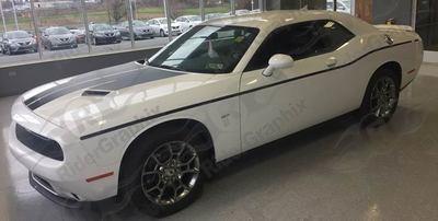 2008 - Up Dodge Challenger Thin Lower Beltline Bodyline Accent Side Stripes