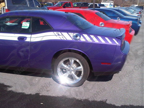 2009 - 2014 Dodge Challenger RT Classic Factory Rear Stripe Extensions Only