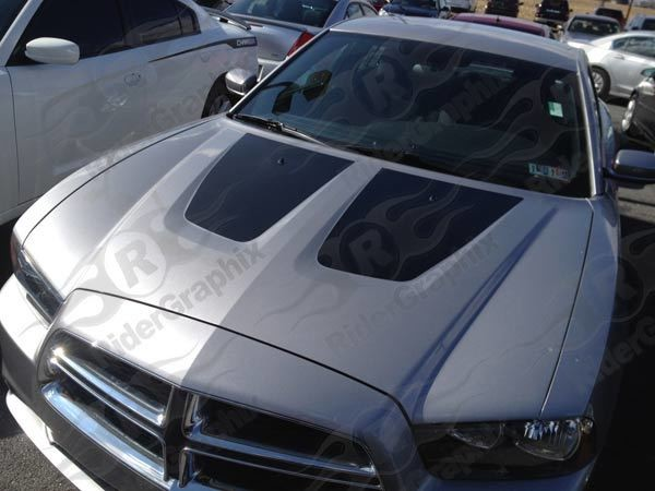 2011 -2014 Dodge Charger Hood Blackout Graphics