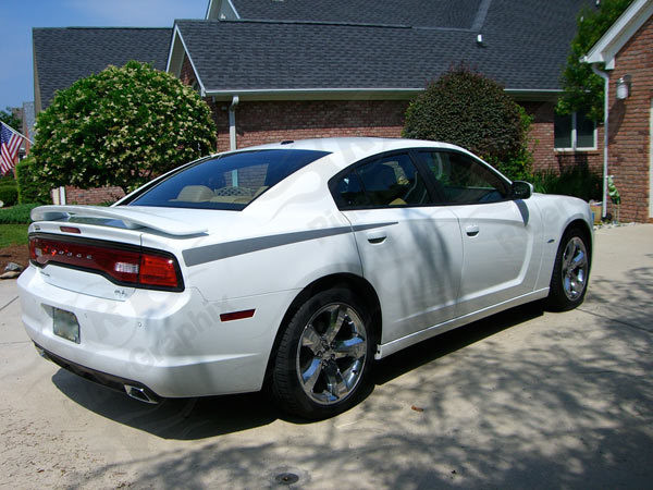 2011 - 2014 Dodge Charger Daytona Style Rear QP Decals