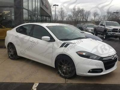 2013 - 2016 Dodge Dart Hood to Fender Hash Stripe kit