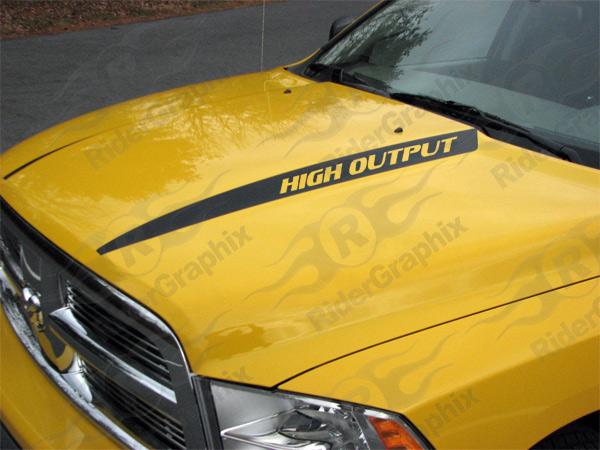 2009 - 2021 (Classic) Ram 1500 Standard Hood Spear Stripes