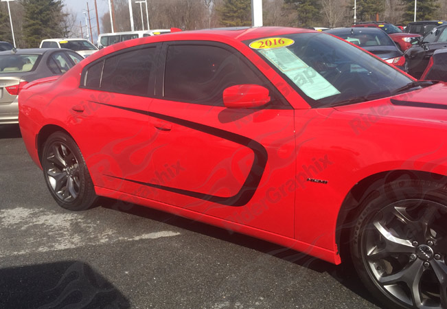 2015 - Up Dodge Charger Standard Side Scallop Graphics