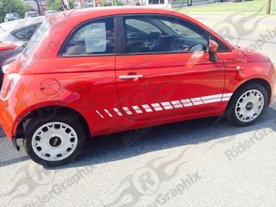 2007 - Up Fiat 500 2-Door Style Rocker Panel Stripes