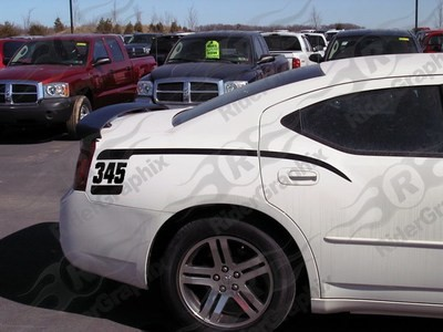 2006 - 2010 Dodge Charger Retro Gen 1 Cuda Hockey Stick Stripes