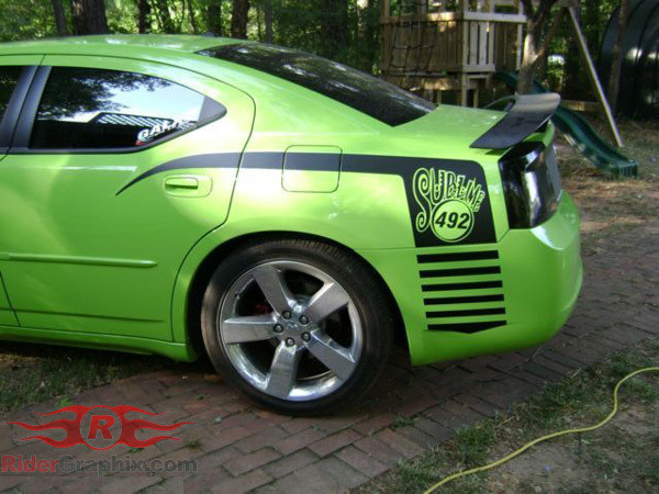 2006 - 2010 Charger Super Bee Style Quarter Panel Stripe Kits