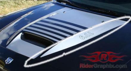 2006 - 2010 Charger SRT Hood Side Spear Decal Kit