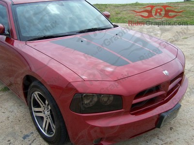 2006 - 2010 Charger OEM Style Split Hood Decal Kit