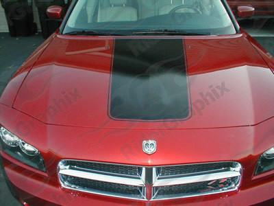 2006 - 2010 Charger Retro Tapered Hood Decal