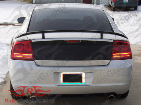 2006 - 2010 Charger Daytona Style Trunk Blackout Decal Kit