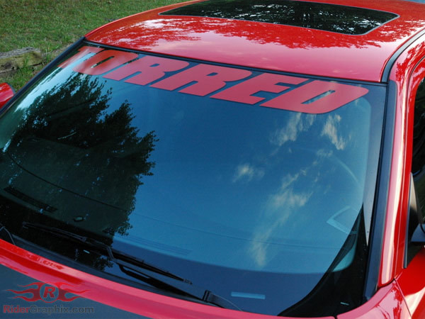 2006 - up Charger Windshield Decal