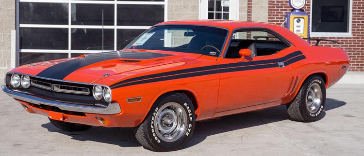 """1970 - 1974 Dodge Challenger 1971 """"R/T"""" Style Side Stripe Kit"""