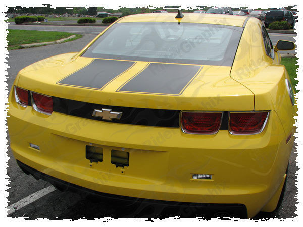 2010 - 2013 Chevrolet Camaro Rear Trunk Blackout Decals kit