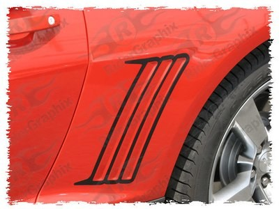 2010 - 2015 Chevrolet Camaro Rear Quarter Panel Outer Vent Accent Decal