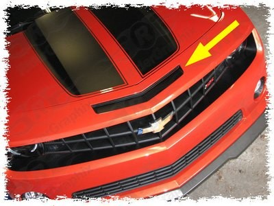 2010 - 2013 Chevrolet Camaro SS Intake Blackout Decal kit