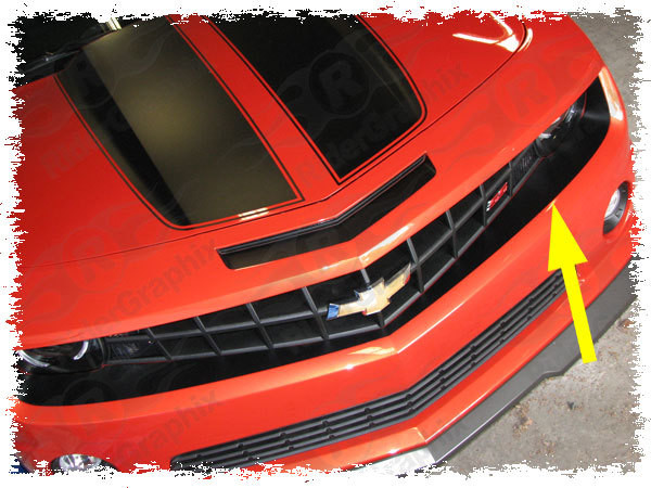 2010-2013 Chevrolet Camaro Front Fascia/Grill Blackout Decal kit