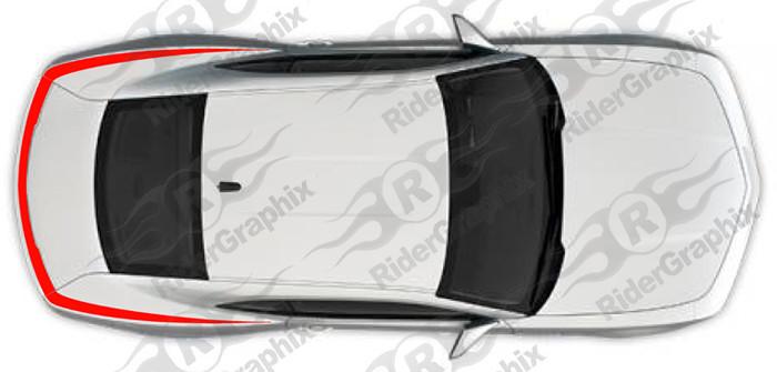 2010 - 2015 Chevrolet Camaro Upper Spoiler / Upper Fender Accent Stripes