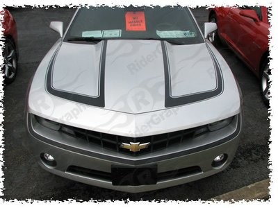 2010 - 2015 Chevrolet Camaro Hood Accent Stripes Style #1