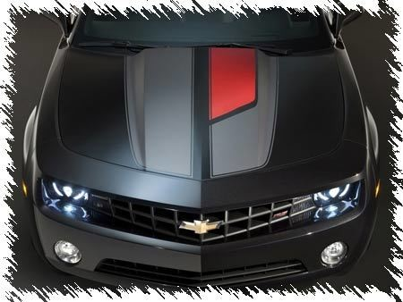 2010 - 2015 Chevrolet Camaro 45th Anniversary Style Rally Stripe Kit