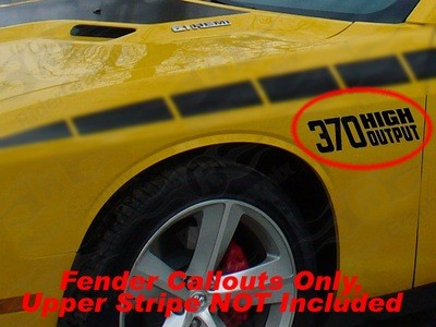 2008 - Up Dodge Challenger 1970 T/A Retro Style Fender Accent Decal Kit