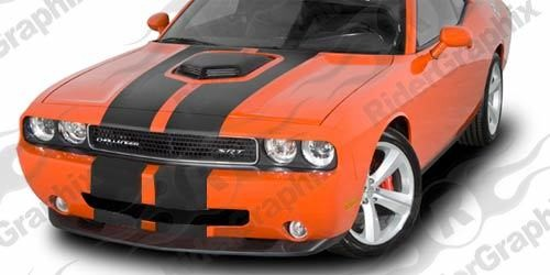 2015 - Up Dodge Challenger Shaker Twin Rally Stripe Kit Bumper to Bumper Option