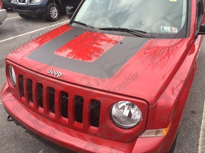 2007 - 2017 Jeep Patriot Factory Style Hood Graphics