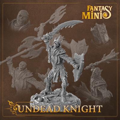 Undead Skeleton Knight 28mm