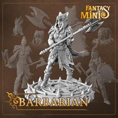 Female Barbarian 28mm