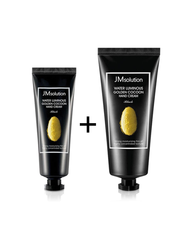 JM SOLUTION Water Luminous Golden Cocoon Hand Cream Black 100 ml + 50 ml