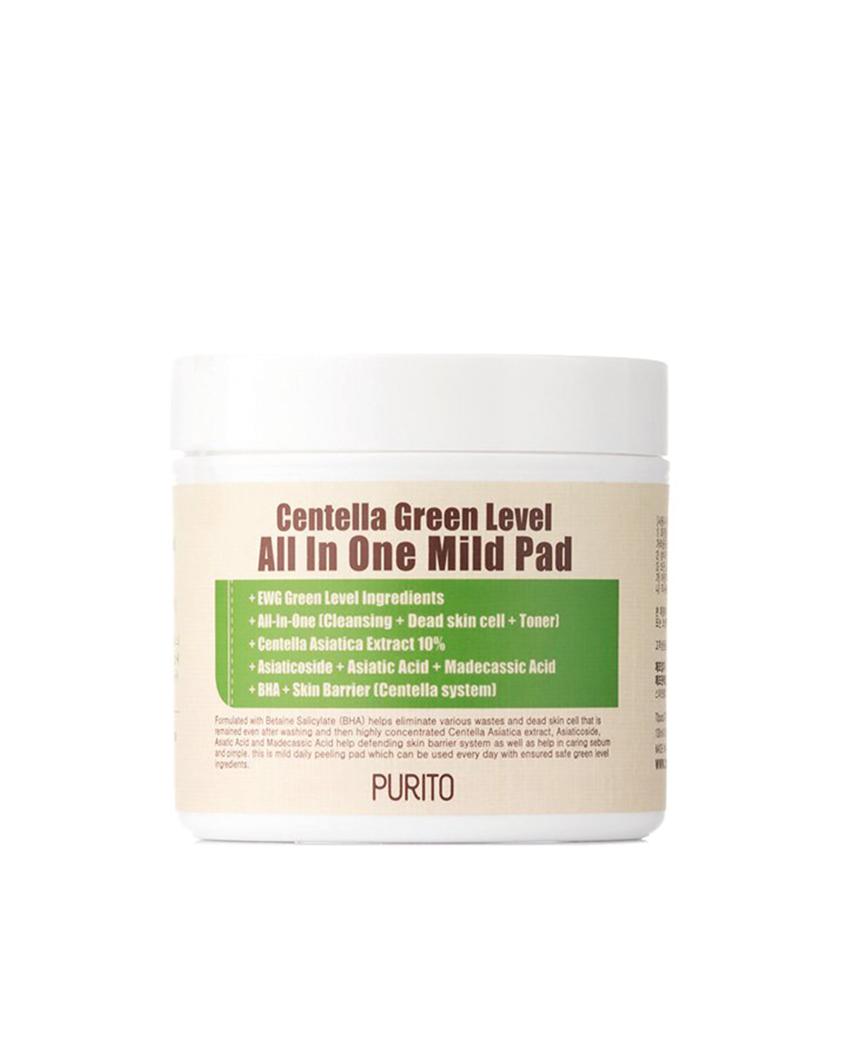 PURITO Centella Green Level All In One Mild Pad 60 ea / 130 ml