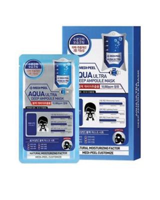 MEDI-PEEL Aqua Ultra Deep Ampoule Mask Sheet 25 g x 10 ea