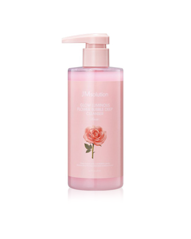 JM SOLUTION Glow Luminous Flower Bubble Deep Cleanser Rose 300 ml