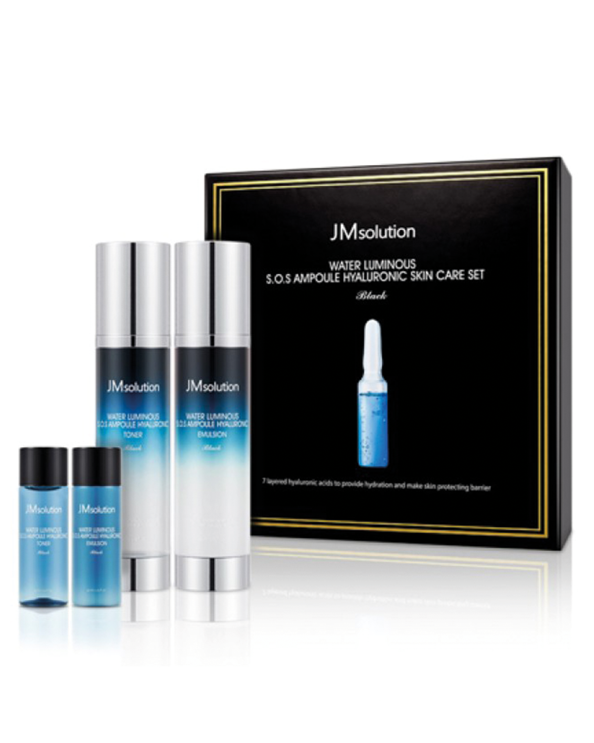 JM SOLUTION Water Luminous S.O.S Ampoule Hyaluronic Skin Care Set