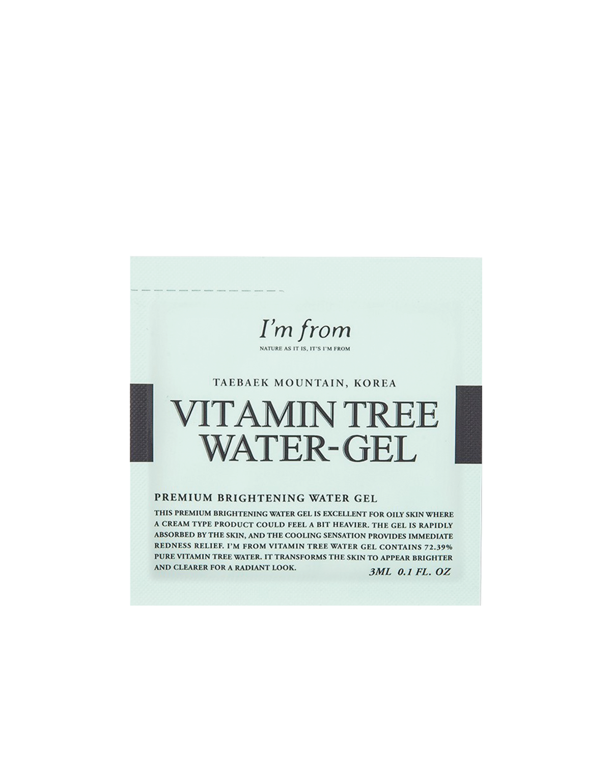 I'M FROM Vitamin Tree Water Gel Sample 3 ml