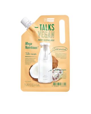 MISSHA Talks Vegan Squeeze Pocket Sleeping Mask MEGA NUTRITIOUS 10 g