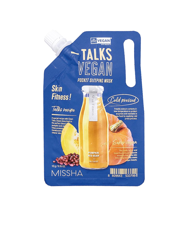 MISSHA Talks Vegan Squeeze Pocket Sleeping Mask SKIN FITNESS 10 g