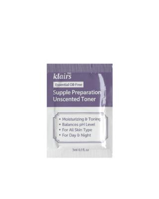 KLAIRS Supple Preparation Unscented Toner Sample 3 ml