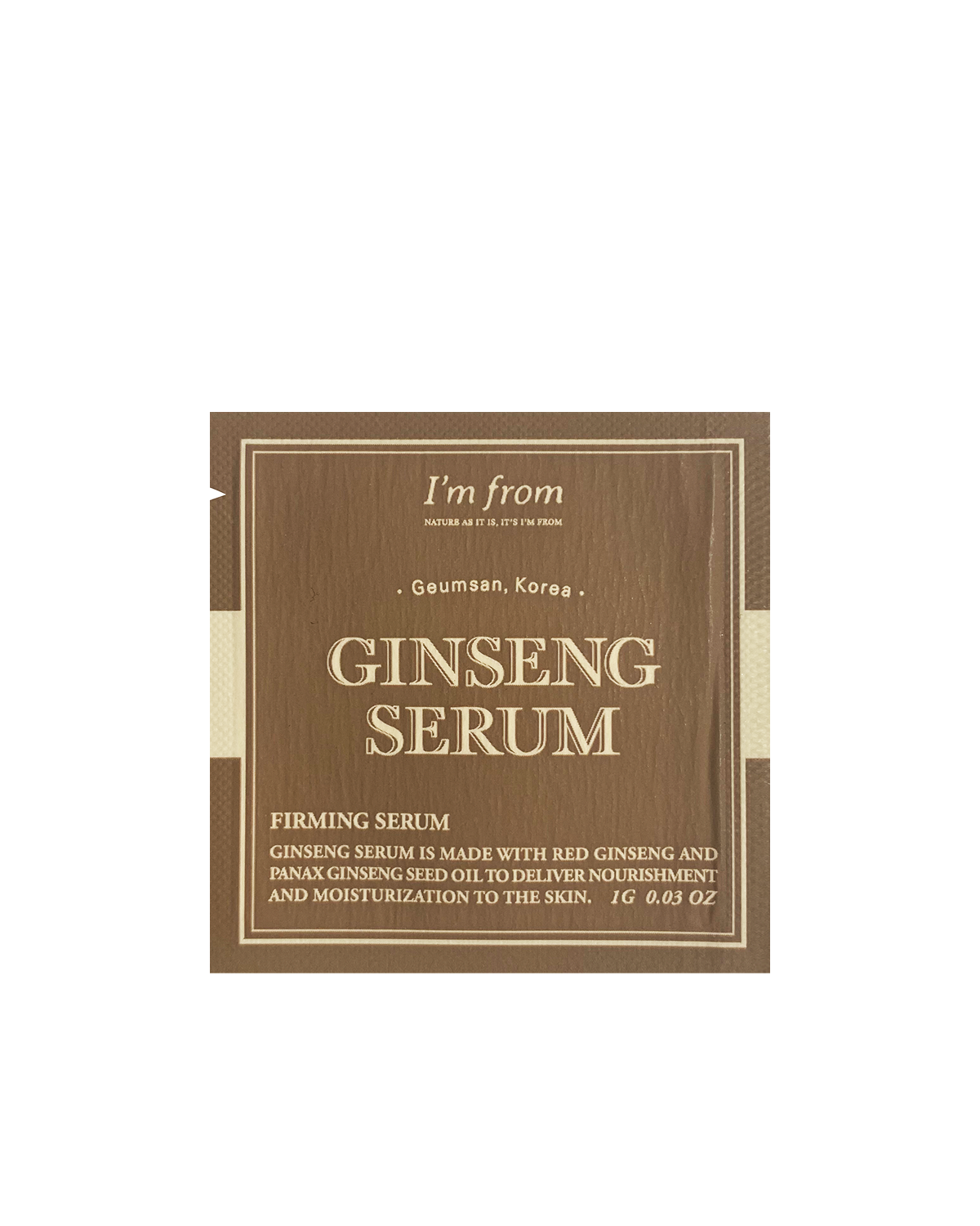 I'M FROM Ginseng Serum Sample 1g