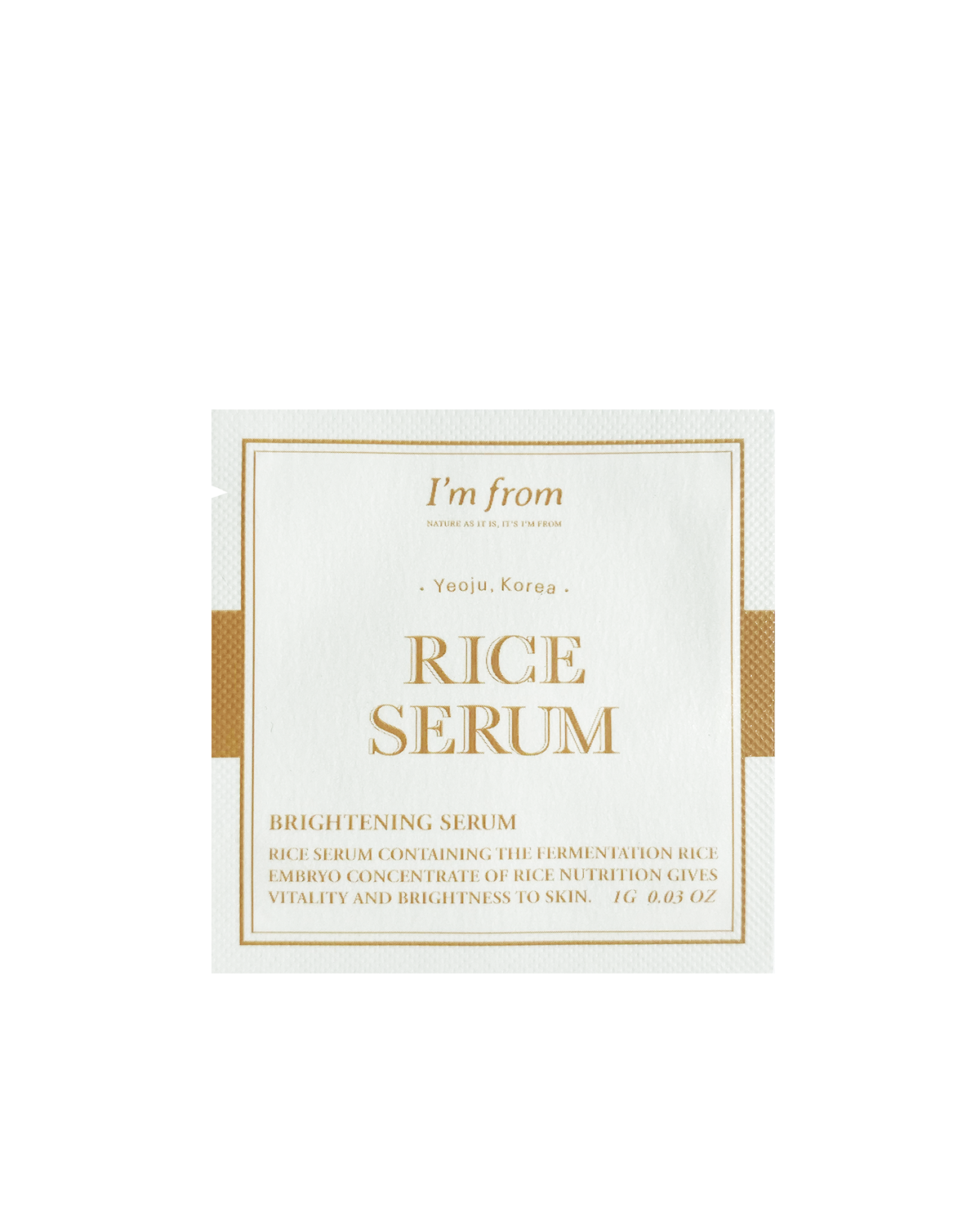 I'M FROM Rice Serum Sample 1g