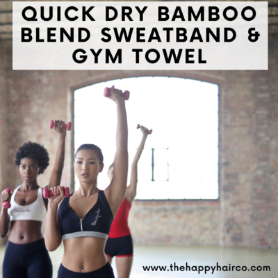 Gym Sweatband & Towel Set- Quick Dry Bamboo Blend