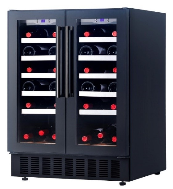 Grubel Wine Cabinet - 42 Bottles - Double Temperature (GWC-DT42TBK)