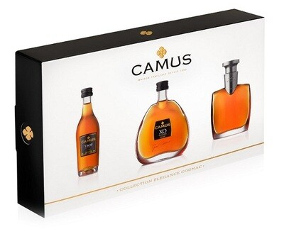 Camus 'Elegance' Cognac Miniature Collection 3 in 1 Set