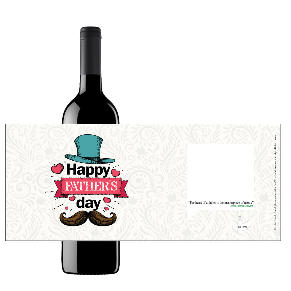 Duo Wraps Wine Greeting Card - Father's Day